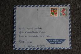 Enveloppe Timbrée Envoyée Par Avion Du CARNAC à MADAGASCAR - Marcophilie (Lettres)