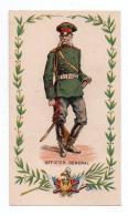 (Chromos) Militaria 49, Officier Général, Russie??, Chromo Feuille De Papier, Format 6,1 X 10,5 Cm, Dos Non Imprimé, Bon - Chromos