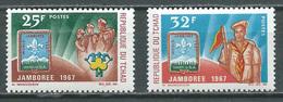 Tchad YT N°142/143 Jamborée Mondial Idaho Scoutisme Neuf/charnière * - Tsjaad (1960-...)