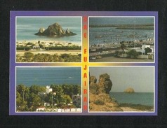 United Arab Emirates UAE Fujairah Picture Postcard Fujairah 4 Scene Beach Sea Area  View Card - United Arab Emirates