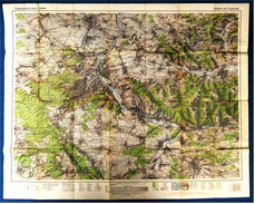 Topographische Karte  - Stuttgart Und Umgebung  -  Ausgabe Mit Wanderwegen  -  Von 1968 - Maps Of The World