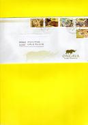 Enveloppe Exceptionnelle, Série Compléte, 2015, éléphant, Rhino, Buffle,léopard, Lion, Tampon OKAUKUE