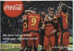Rode Duivels (Belgium) Steunkaart Coca Cola - Ongebruikt - Football