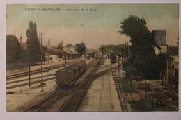 Cpa Vitry Le Francois Interieur De La Gare - Couleur - TOK01 - Vitry-le-François