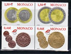 Monaco 2356 2359 Euros Monégasques TB ** MNH SIN CHARNELA Prix De La Poste 3.92