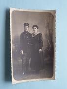 SOLDAAT / Militair / Soldier Met Dame : Anno 1918 ( Zie Foto Voor Details ) !! - Personen