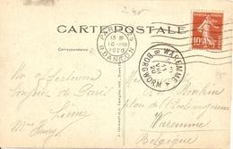 BE17-  WAREMME EN BELGIQUE   CACHET POSTAL  CPA  CIRCULEE - Waremme