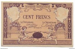 BANQUE ENFANTINE - BILLET DE 100 FRANCS MONOFACE NEUF - France