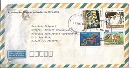 Brazil Airmail 1983 Brazilian Carnival, 1982 15 Years Communication Ministry, Pampas Deer,  Domestic Fauna - Luchtpost