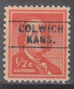 USA Precancel Vorausentwertung Preos Locals Kansas, Colwich 745