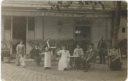 Yvelines : Rambouillet, Café Du Parc, Rare Carte-Photo Représentant La Famille...Postée Le 20 Sept. 1909, Voir Scan - Rambouillet