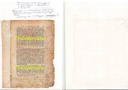 ST SINT LIEVENS LIEVIN HAUTHEM HAUTEM HOUTEM OUD DOCUMENT 1799 OF 1800 EN CA. 1803 OF 1804 !!! - Sint-Lievens-Houtem