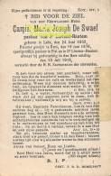 ST SINT LIEVENS LIEVIN HAUTHEM HAUTEM HOUTEM BIDPRENTJE DE SWAEF PASTOOR LEDE GENT 1852 1919 - Sint-Lievens-Houtem