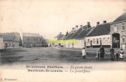 CPA ST SINT LIEVENS LIEVIN HAUTHEM HAUTEM HOUTEM DE GROOTE PLAATS LA GRAND PLACE - Sint-Lievens-Houtem