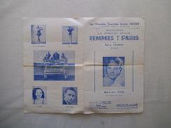 FEMMES DE PARIS DE EMILE LAURENT AVEC MADAME REAL LES GRANDES TOURNEES ANDRE FLEURY GRANDE REVUE EN 2 ACTES ET 20 TABLEA - Programme