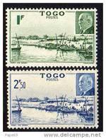 Togo N°  215 / 16   XX  :  Baie De Mono Et Effigie Du Mal Pétain La Paire Sans Charnière, TB