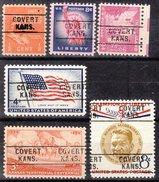 USA Precancel Vorausentwertung Preos Locals Kansas, Covert 745, 6 Diff. Better Type
