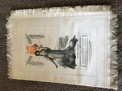 Menu  Sur Soie Offert à Monsieur Le Pésident De La Répuplique Et à Madame Raymond Poincaret 1913 - Unclassified