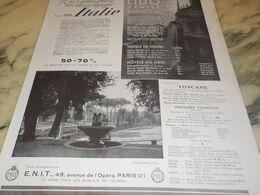 ANCIENNE PUBLICITE VOYAGE L ETE EN ITALIE 1934 - Advertising
