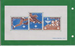 "POLYNESIE FRANCAISE, 1976, BLOC FEUILLET N°3,""JEUX OLYMPIQUES DE MONTREAL"" Neuf ,  LUXE - Blocks & Sheetlets"