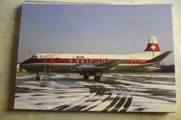 ATA / AIR TOURISM ALPIN  VISCOUNT  HB ILR   BASEL-MULHOUSE AIRPORT 1972 - 1946-....: Era Moderna