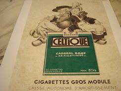 ANCIENNE PUBLICITE CIGARETTES CELTIQUE CAPORAL 1934 - Documents