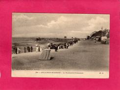 33 GIRONDE, ARCACHON-MODERNE, LE Boulevard-Promenade, Animée, Bateaux, 1913, (M. Delboy) - Arcachon