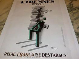 ANCIENNE PUBLICITE CIGARETTES ETRENNES 1937 - Documents