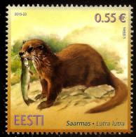 Estonia 2015 Estonian ANIMAL Fauna - Otter AND FISH MNH - Zonder Classificatie