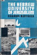 The Hebrew University Of Jerusalem 1918-60 By Norman Bentwich - History