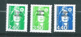Timbres De St Pierre Et Miquelon  De 1993  N°587 A 589  Neufs ** Prix De La Poste - St.Pedro Y Miquelon