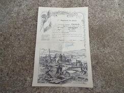 Certificat De Bonne Conduite 7 Eme Genie Fait A Avignon Daté 1953 Indochine - 1939-45