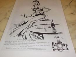ANCIENNE PUBLICITE JEUNE ET ARDENTE  PERRIER 1936 - Posters