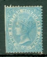 British Honduras: 1865   QV    SG1    1d    Pale Blue  [No Wmk  Perf: 14]    MH - British Honduras (...-1970)