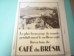 ANCIENNE PUBLICITE RIO DE JANEIRO CAFE DU BRESIL 1934 - Posters