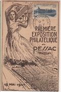 FR-L107 - FRANCE Carte Souvenir De L'exposition Philatélique De Pessac 1947 - France