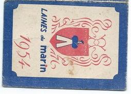 Calendrier De Poche/ Laines Du Marin / Maison De La Cressonnière/ AVION/ P De C / 1954                            CAL354 - Calendriers