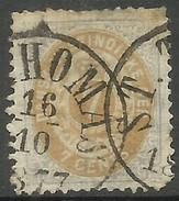 Danish West Indies - 1874 Numeral  7c Purple & Yellow Used  Sc 9