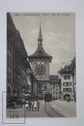 Old Postcard Switzerland - Bern - Zeitglockenturm - Tour De L'Horologe - Tramway And Children's - Animated - BE Berne