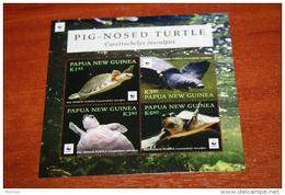 WWF 2016 Turtles Papua New Guinea  Rare Mini-block - Unclassified