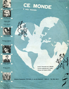 RICHARD ANTHONY - Partition - CE MONDE - IL MIO MONDO - Music & Instruments