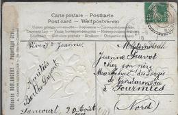 ABANCOURT Nord CAD Type 84 SUR 5C SEMEUSE 20.8.1910 + OR Origine Rurale De SANCOURT   ...G - Marcofilia (sobres)