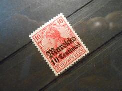 D.R.Mi 48a  10Cauf10Pf**MNH - Deutsche Auslandspostämter ( MAROKKO ) 1911  Mi € 6,00 - Offices: Morocco