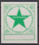 Ex-Libris Esperanto - Green Star - Continents - From The 1930s - Ex-Libris