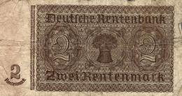 2 RENTENMARK 1937 - [ 4] 1933-1945 : Troisième Reich