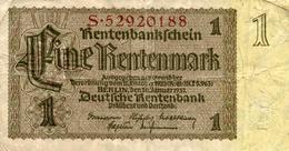 1 RENTENMARK 1937 - [ 4] 1933-1945 : Troisième Reich