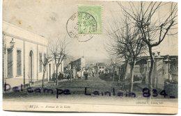 - BEJA -  Avenue De La Gare En Hiver - Cliché Peu Courant, écrite, 1904 ?, Animation, BE, Scans. - Tunesien