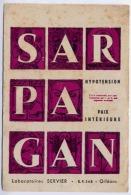 LABORATOIRE SERVIER ORLEANS  MEDICAMENT SARPAGAN - Buvards, Protège-cahiers Illustrés