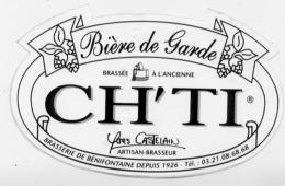 AUTOCOLLANT BIERE DE GARDE CH'TI BRASSERIE DE BENIFONTAINE - Old Paper