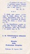 Palermo - Santino S.M. VINCENZINA STRANO S.d.P, Ricordo Della Professuione Perpetua, 22 Agosto 1965 - PERFETTO N47b
